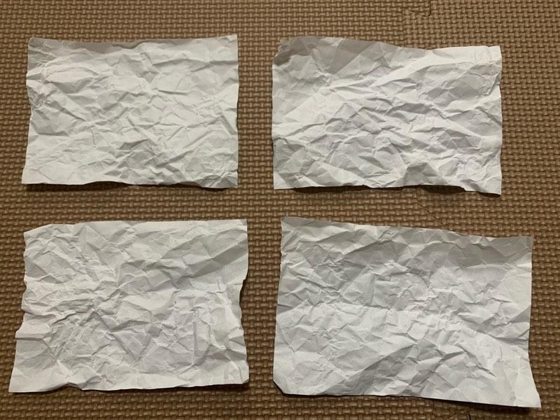 折り紙お寿司の作り方 シャリをA4コピー用紙で作る