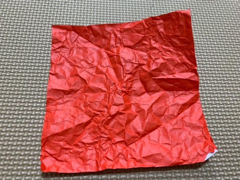 折り紙お寿司(マグロの赤身)1